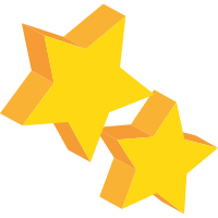 two three dimensional gold stars for roof maintenance for companies in maryland